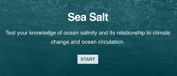Sea salt quiz cover page