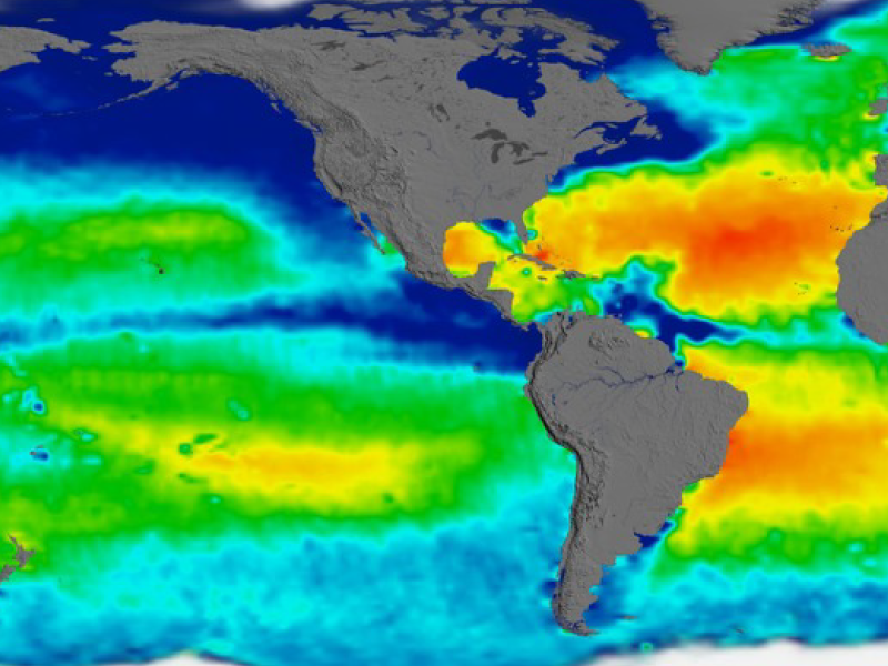 Global view of sea surface salinity