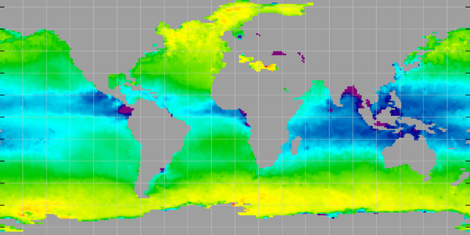 Map of sea surface density