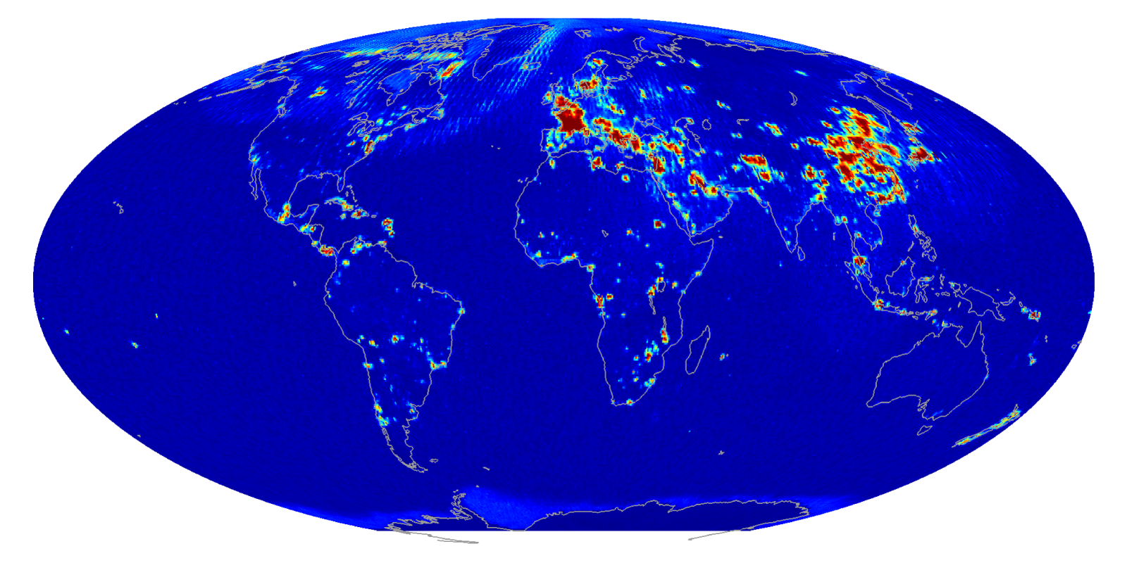Global radiometer RFI map
