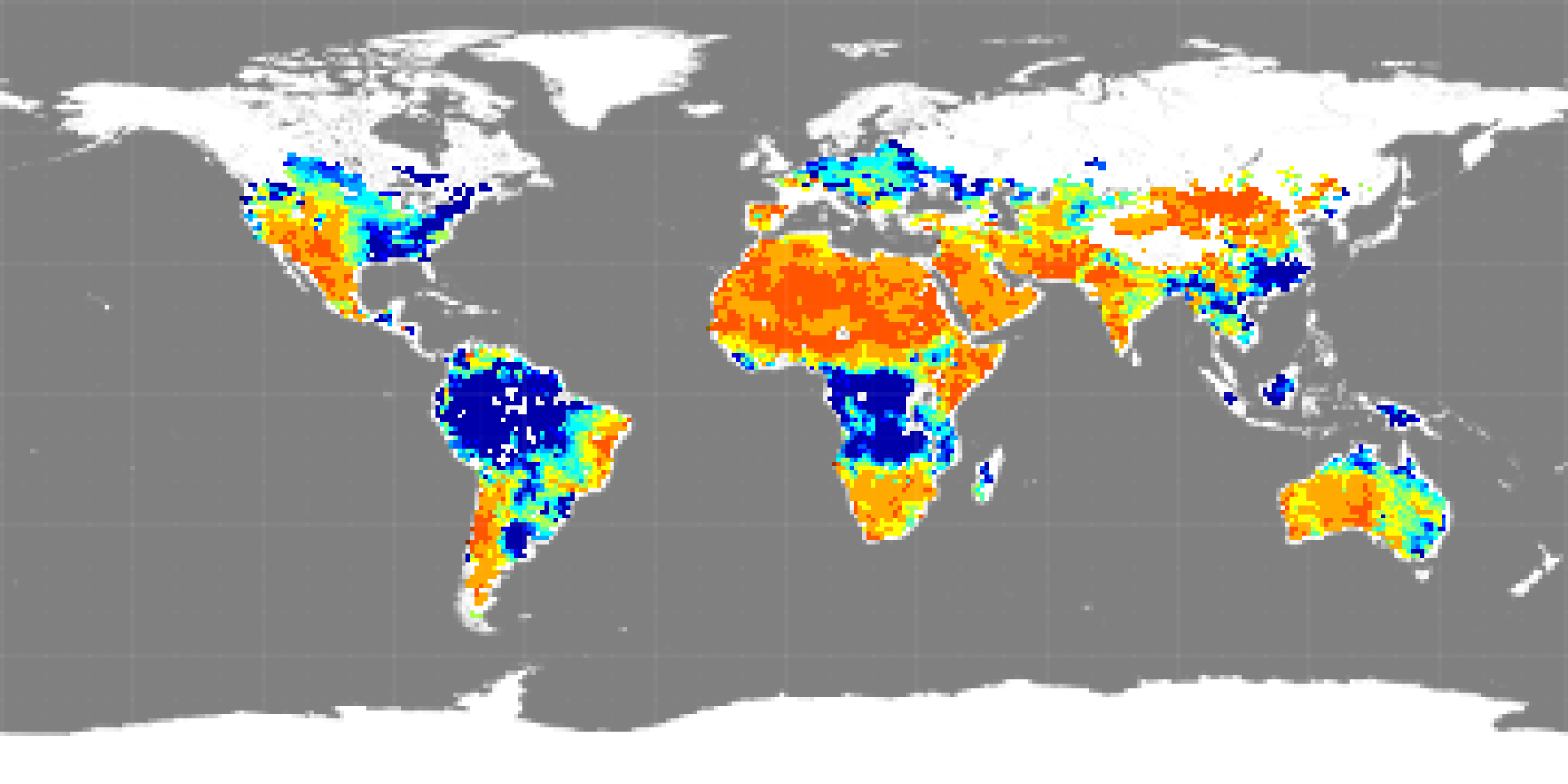 Map of soil moisture