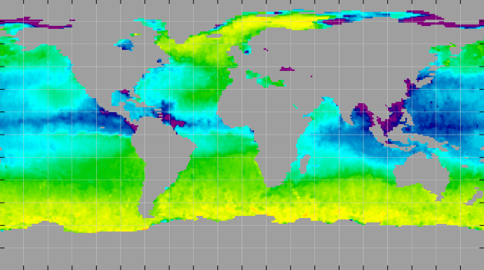 Sea surface density, August 2011