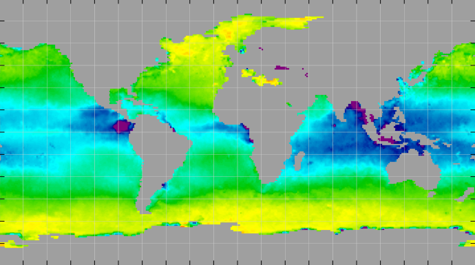 Sea surface density, February 2012