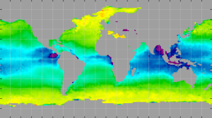 Sea surface density, March 2012