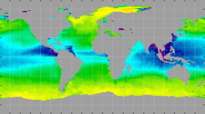 Sea surface density, June 2012