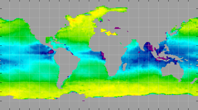 Sea surface density, March 2013