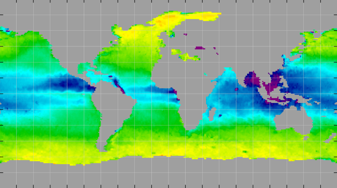 Sea surface density, May 2013