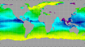 Sea surface density, October 2013