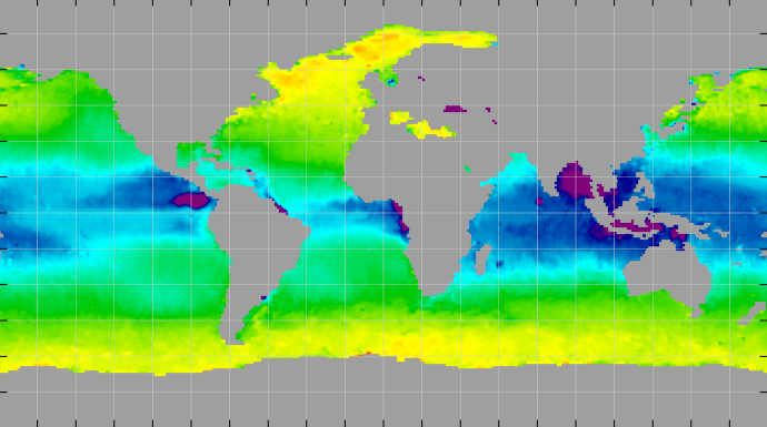 Sea surface density, April 2014