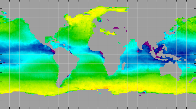 Sea surface density, December 2014