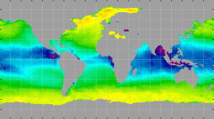 Sea surface density, April 2015