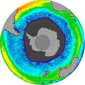 Sea surface salinity in the Southern Hemisphere, August 2012