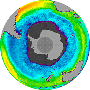 Sea surface salinity in the Southern Hemisphere, December 2014