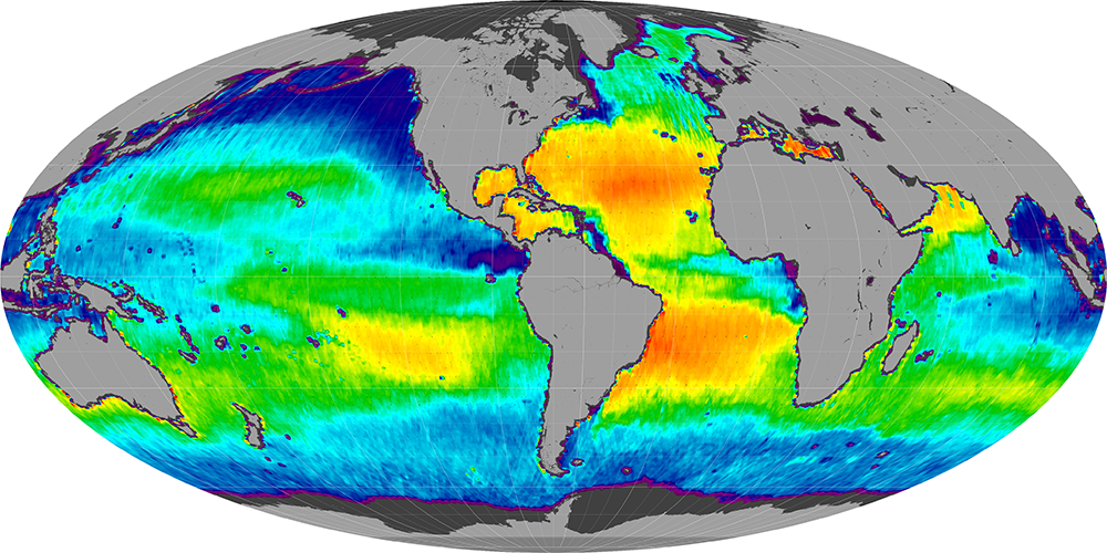 Sea surface salinity, May 2014