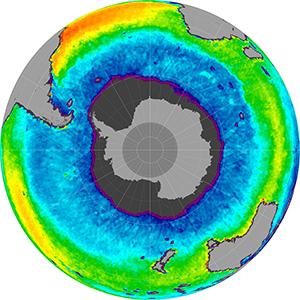 Sea surface salinity in the Southern Hemisphere, May 2014