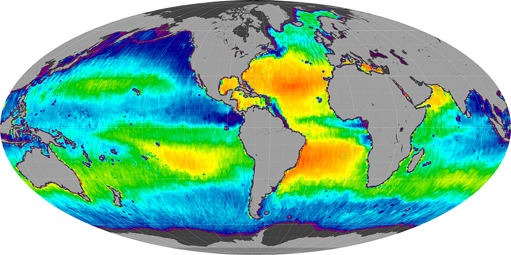 Sea surface salinity, May 2015