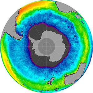 Sea surface salinity in the Southern Hemisphere, May 2015