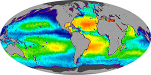 Global sea surface salinity, November 2014
