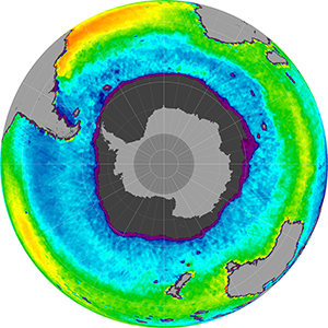Sea surface salinity in the Southern Hemisphere, November 2014