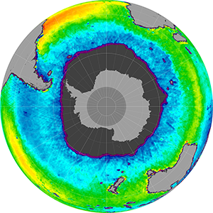 Sea surface salinity in the Southern Hemisphere, October 2013