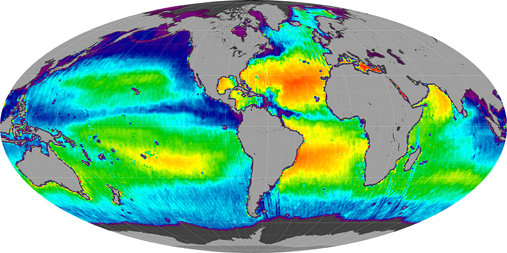 Sea surface salinity, September 2011