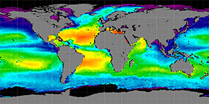 Global sea surface salinity, 2011