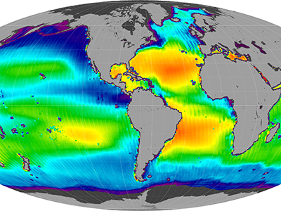 Global sea surface salinity, 25-Aug-11 to 05-May-15 (Mollweide, ascending)