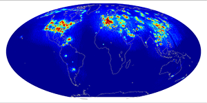 Global scatterometer percent RFI, June 2014