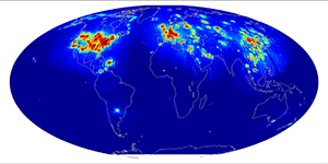 Global scatterometer percent rfi, March 2015