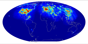 Global scatterometer percent RFI, October 2014